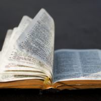 Photo of open Bible