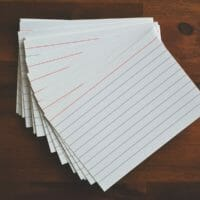 Photo of 3 by 5 index cards