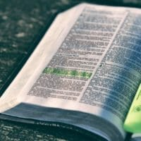 Photo of Bible with highlighter