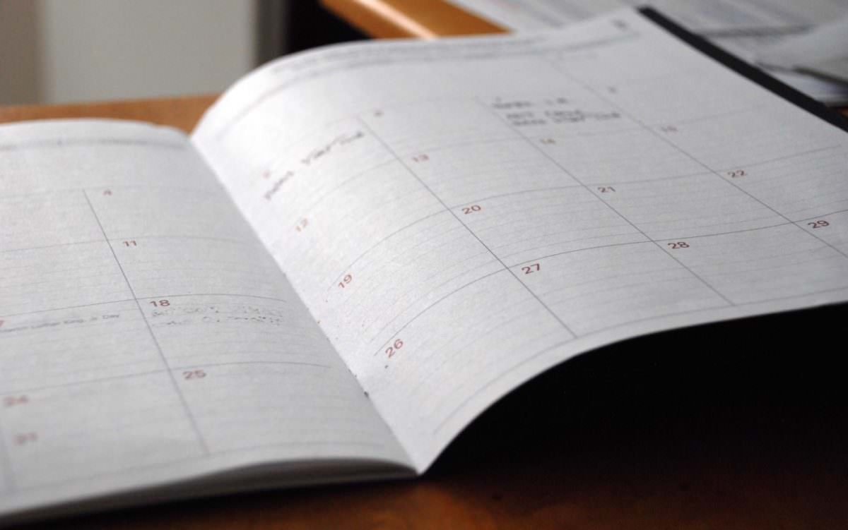 Image of a day-planner calendar