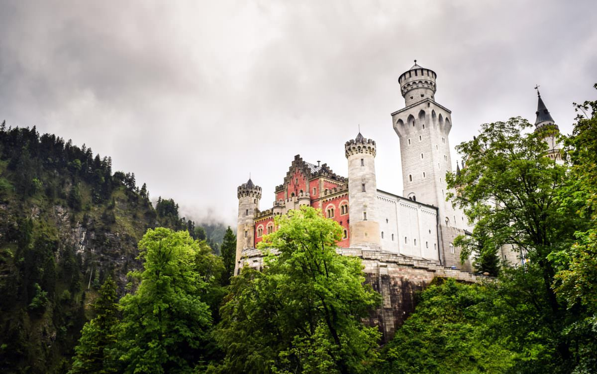 Photo of a castle and trees