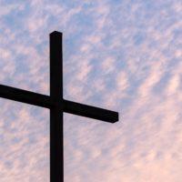 Cross against sky image