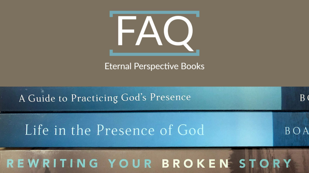 Image of 3 Boa books, Life in the Presence of God, Rewriting Your Broken Story, and A Guide to Practicing God's Presence